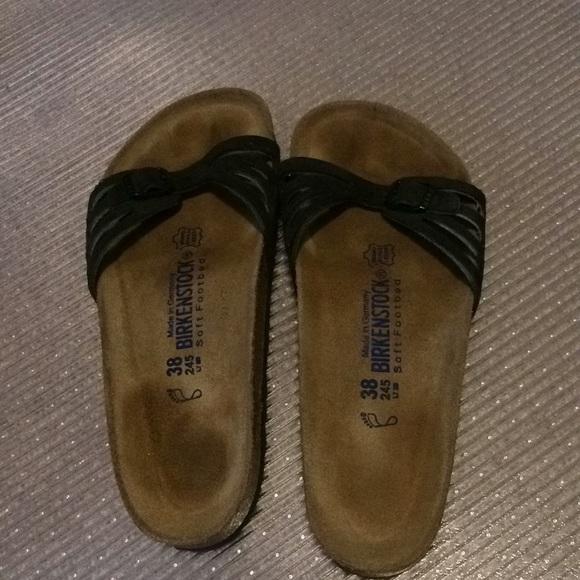 378f2459106 Birkenstock Shoes - Birkenstock Leather Madrid Soft Footbed Sz 38